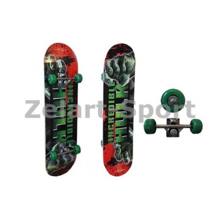 Скейтборд в сборе (роликовая доска) SK-182 (колесо-PVC, р-р деки 78х20х1,2см, 608Z)