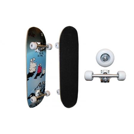 Скейтборд в сборе (роликовая доска) SK-2808AC (колесо-PU, р-р деки 71х20х1,2см, 608Z, алюмин. подв)