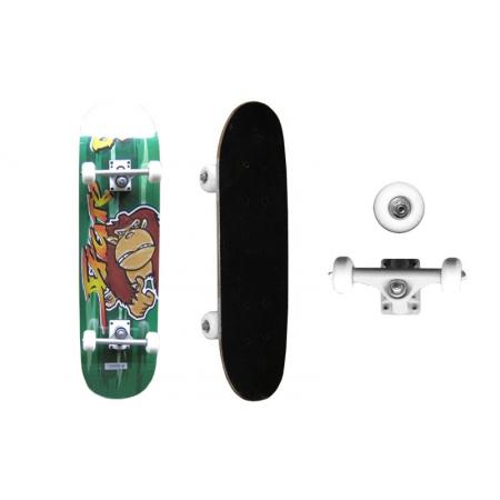 Скейтборд в сборе (роликовая доска) SK-3108AA-4 (колесо-PU, р-р деки 79х20х1,2см, АВЕС-5,алюм. подв)