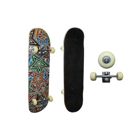 Скейтборд в сборе (роликовая доска) SK-3108AA (колесо-PU, р-р деки 79х20х1,2см, 608Z, алюмин. подв)