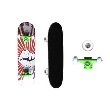Скейтборд в сборе (роликовая доска) SK-3108PP (колесо-PVC, р-р деки 79х20х1,2см, 608Z, пластик.подв)