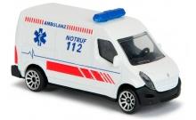 Скорая помощь Renault Master Ambulance, 7.5 см, Majorette, 205 7181-1