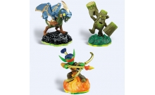 Skylanders. Набор из трех фигурок: Drobot, Stump Smash, Flameslinger