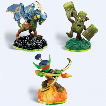 Skylanders. Набор из трех фигурок: Drobot, Stump Smash, Flameslinger