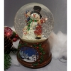 "Снежный шар (шар со снегом) ""Снеговик"" (стеклянный, D 10 см)"