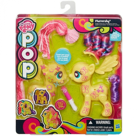 Создай свою пони Флаттершай. Поп-конструктор. My Little Pony, желтый, B0375EU4-2