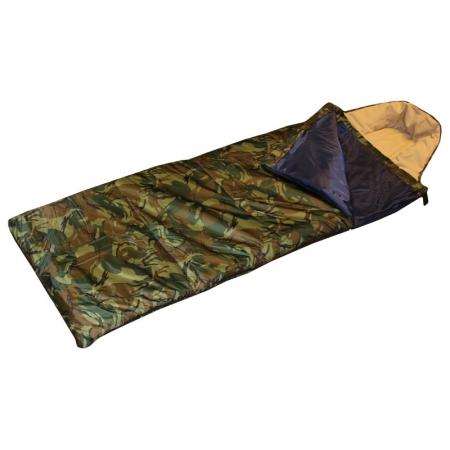 Спальный мешок одеяло с капюшоном камуфляж UR SY-4083 (PL, х-б,300г на м2,р-р 185+35х72см,t+15 до 0)