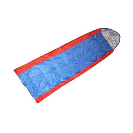 Спальный мешок одеяло с капюшоном SY-067 (PL,хлопок, 400г на м2,р-р 190+30х75см, тем.реж. +15 до -5)