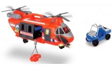 Спасательная служба Вертолет с машинкой, 56 см (свет, звук), Dickie Toys, 330 9000