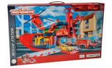 Спасательная станция с машинкой и вертолетом, Majorette, 205 0015