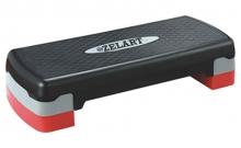 Степ-платформа ZEL FI-3591 (пластик, покрытие TPR, р-р 68Lx28Wx10H+5см, черный-серый) CDT003
