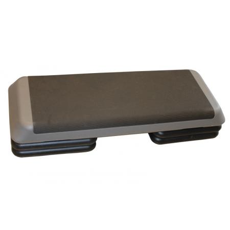 Степ-платформа ZEL FI-3593-2 (пластик, покрытие TPR, р-р 109Lx41Wx11H+5+5см, черный-серый)