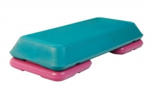 Степ-платформа ZEL FI-4731 (пластик, р-р 72Lx36,5Wx15H, бирюзовый-малиновый) CDT004