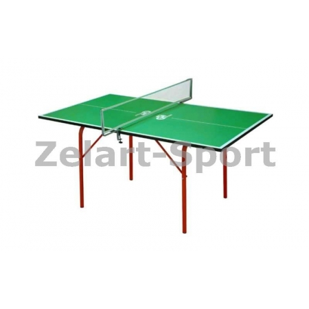 Стол теннисный детский UR MT-4688 (Junior) (ДСП толщ.16мм, мет, плас, р-р 1,36х0,76х0,64м,сетка,зел)