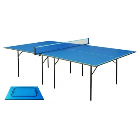 Стол теннисный UR MT-4689 (Gk-1) (ДСП толщ.16мм, металл, пластик, р-р 2,74х1,52х0,76м, синий)