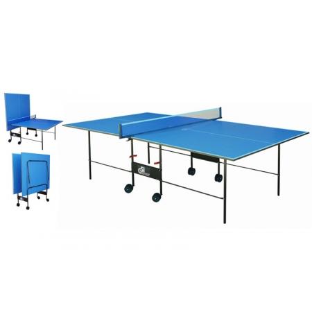 Стол теннисный UR MT-4690 (Gk-2) (складной,ДСП толщ.16мм, мет,плас,р-р 2,74х1,52х0,76м,сетка, син)