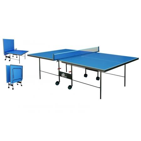 Стол теннисный UR MT-4691 (Gk-3) (складной,ДСП толщ.16мм, мет,плас,р-р 2,74х1,52х0,76м, сетка, син)