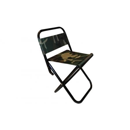 Стульчик туристический со спинкой TY-8050 (р-р 23х24х47cм, PL, металл, цвет ткани - хаки)