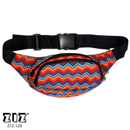 Сумка на пояс Зигзаги, ZIZ-30009