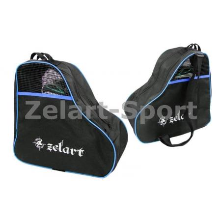 Сумка-рюкзак для роликов ZEL SK-4682-B (PL, р-р 39x38x22см, синяя)