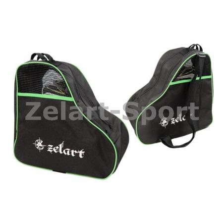 Сумка-рюкзак для роликов ZEL SK-4682-G (PL, р-р 39x38x22см, зеленая)