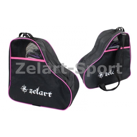 Сумка-рюкзак для роликов ZEL SK-4682-P (PL, р-р 39x38x22см, розовая)