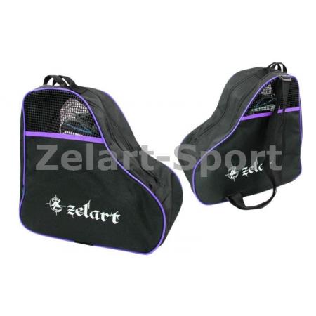 Сумка-рюкзак для роликов ZEL SK-4682-V (PL, р-р 39x38x22см, фиолетовая)