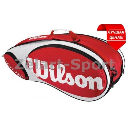 Сумка WILSON WRZ844206 TOUR BAG (PL, на 6 рак, р-р 77x27x35см, красный)