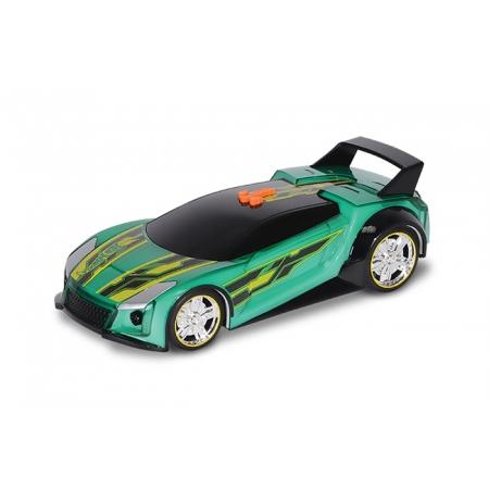 Супергонщик Quick N Sik со светом и звуком, зеленая машинка, 25 см, Hot Wheels, Toy State, зеленая, 90533-1