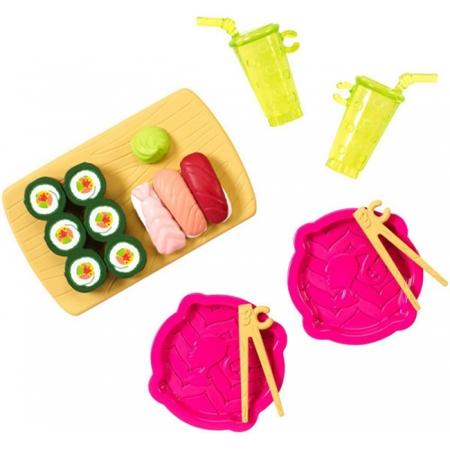 Суши-бар, мини-набор аксессуаров, серия Веселая игра. Barbie. Mattel, Суши-бар, CFB50-6