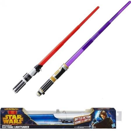 """Световой меч електронный """"Звездные войны"""" (в ассорт.6) Hasbro A1744"""