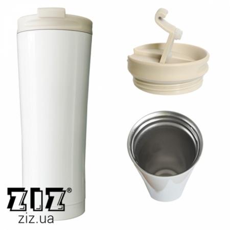 Термокружка Белая, ZIZ-21038