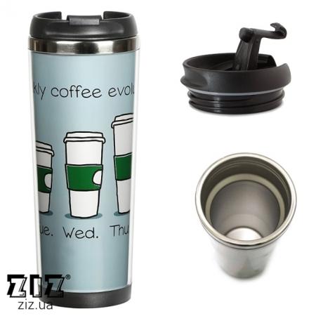 Термокружка Эволюция кофе, ZIZ-21057