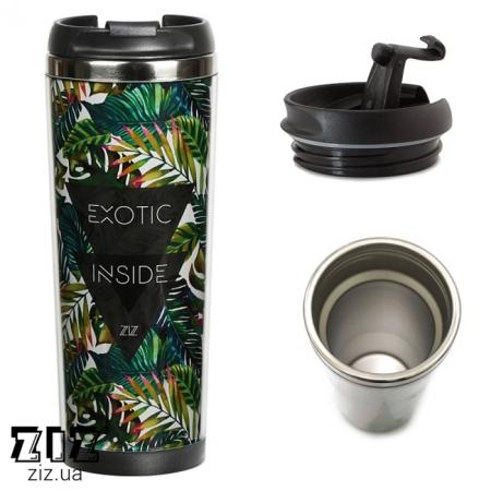 Термокружка Пальмовые листья, ZIZ-21048