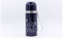 Термос стальной 350ml MY FASHION STYLE 2476B (черный, сталь)