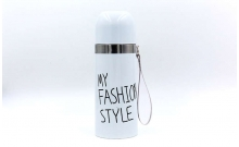 Термос стальной 350ml MY FASHION STYLE 2476W (белый, сталь)