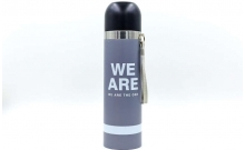 Термос стальной 500ml WE ARE 2416W (серый, сталь)