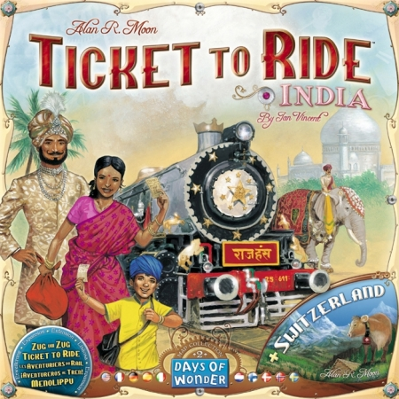 Ticket to Ride - India + Switzerland Maps Collection