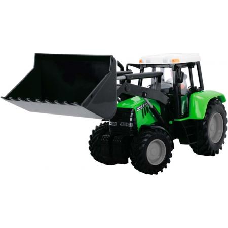 Трактор с фигуркой водителя, 25 см (салатовый), Dickie Toys, 373 5002-3