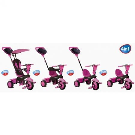 Трехколесный велосипед Smart Trike Spark 4 в 1 розовый (6751200)