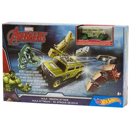 Трек Приключения супергероев, Халк, Hot Wheels, Mattel, Халк, DKT27-2
