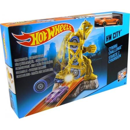 Трек Соревнование с киборгами, Гонки в городе Hot Wheels, Mattel, соревнование с киборгами, BGH87-2