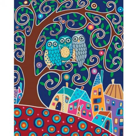 Трио, Серия Животные, рисование по номерам, 40 x 50 см, Идейка, КН2477
