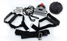 TRX Петли подвесные тренировочные AF5004 SUSPENSION SYSTEM (нейлон, металл, PVC-чехол, черный)