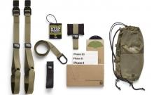 TRX Петли подвесные тренировочные TACTICAL FORCE T3 FI-3725-04 (фун.петли, обрезин. ручки, хаки)