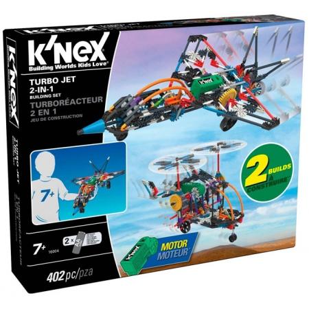 Турбореактивный самолет 2 в 1 (402 детали), набор для конструирования, K`nex, 16004