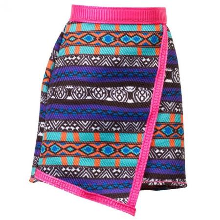 Юбка с горизонтальным орнаментом для Барби, Стильные комбинации, Barbie, Mattel, юбка с горизонтальныма узорами, CFX73-6