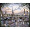 Удивительный Париж, серия Городской пейзаж, рисование по номерам, 40 х 50 см, Идейка, Удивительный Париж (KH1148)