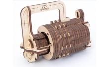 """UGears Мини-сейф - Механический деревянный конструктор """"Кодовый замок"""""""