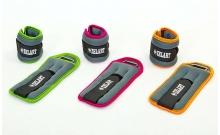 Утяжелители-манжеты для рук и ног ZEL FI-5733-1(LG) (2 x 0,5кг) (неопрен, метал.шарики, цвет в ассорт)